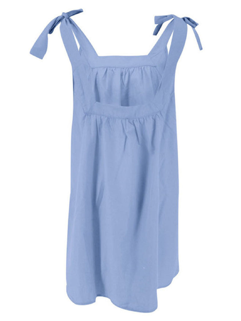 'Elizabeth' Bow Strap Dolly Mini Dress (4 Colors)