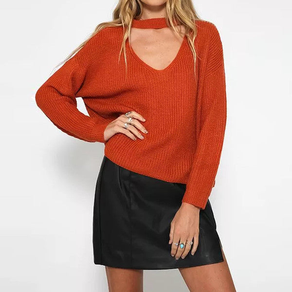 'Francis' Choker Cut Out Sweater