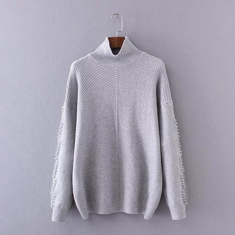 'Samantha' Ribbed High Neck Sweater