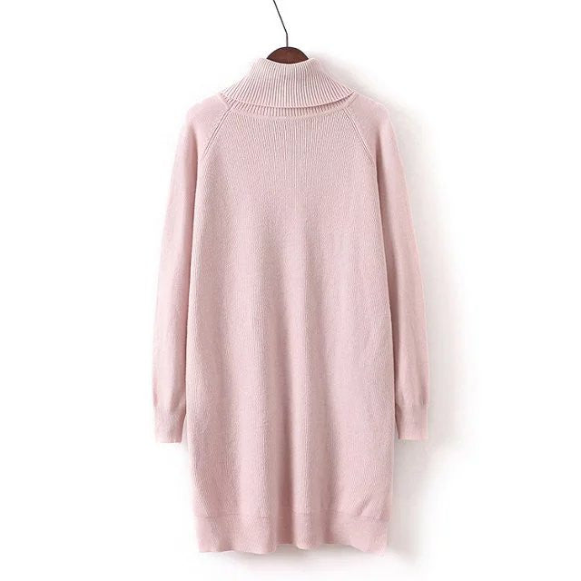 'Susanne' Turtleneck Longline Sweater