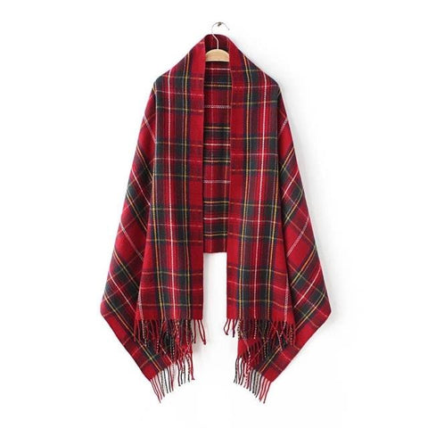 'Noel' Christmas Plaid Blanket Scarf