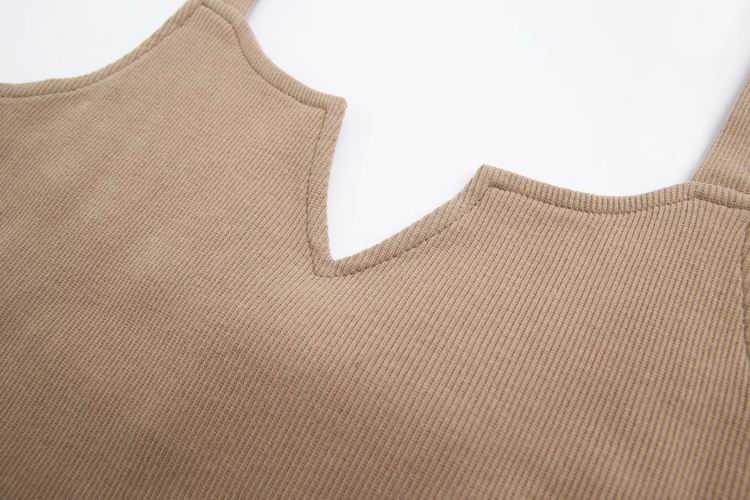 'Jody' V-neck Strap Ribbed Bodysuit (4 Colors)