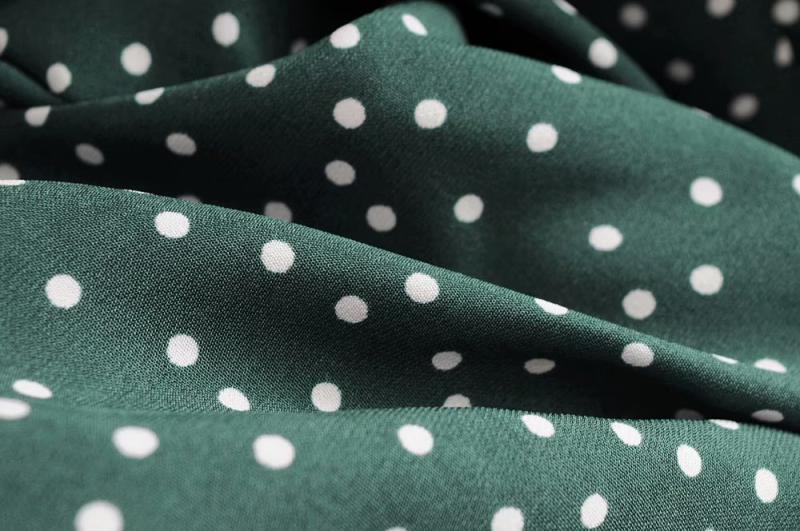 Goodnight Macaroon 'Irene' Polka Dot Sundress Green Material