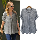 Goodnight Macaroon 'Estelle' Relaxed Fit Boho Black Plaid Shirt  Celebrity Style