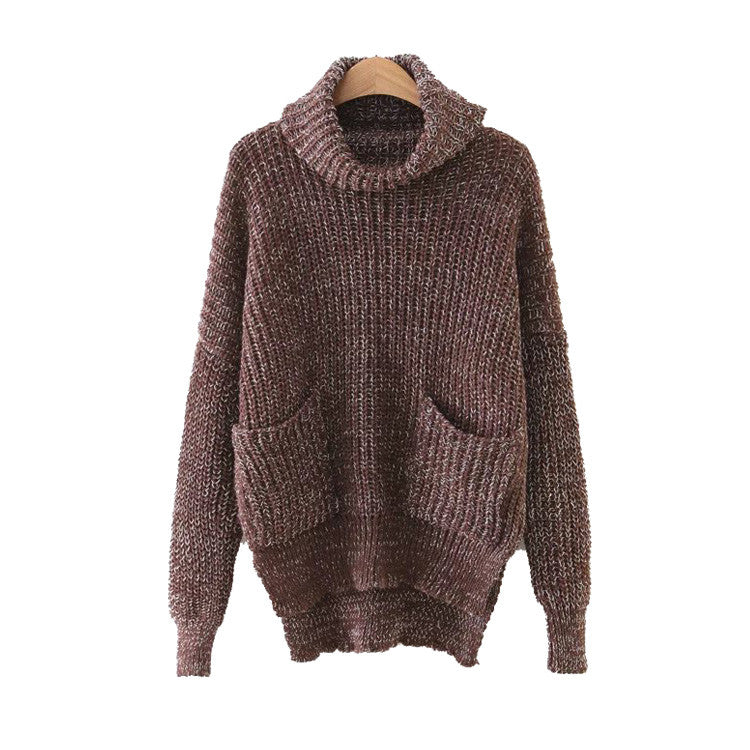 'Kaylee' Turtleneck Pocket Sweater