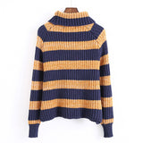 'Celest' Stripe Turtleneck Sweater