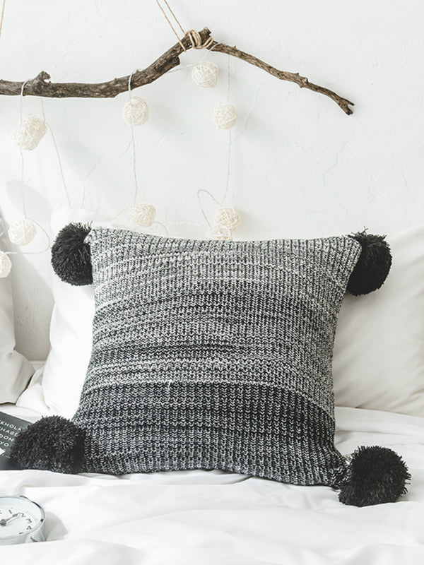 'River' Gradient Pom Pom Cushion Cover (2 Colors)