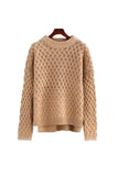 'Tangela' Criss Cross Knitted Sweater - Tan - Goodnight Macaroon