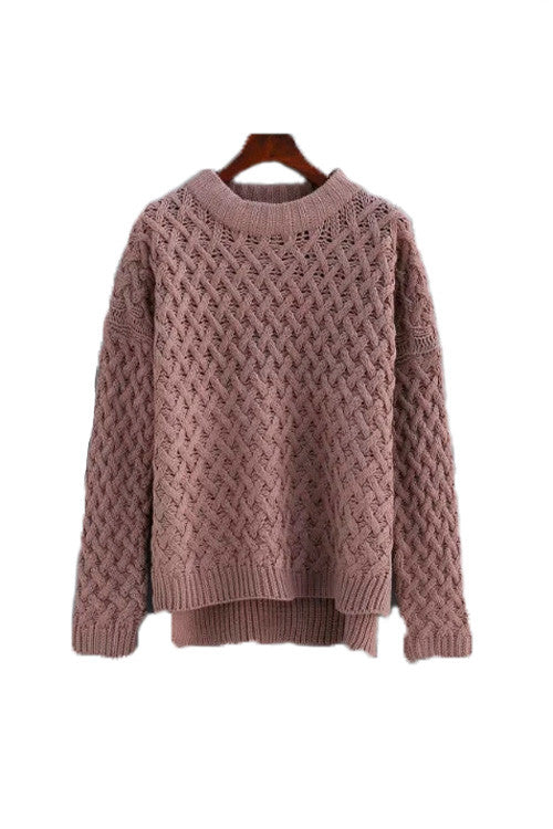 'Tangela' Criss Cross Knitted Sweater - Taupe - Goodnight Macaroon