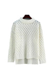 'Tangela' Criss Cross Knitted Sweater - White - Goodnight Macaroon