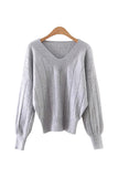 'Terry' V-Neck Striped Detail Sweater from Goodnight Macaroon