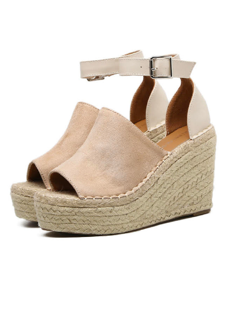'Heather' Platform Wedges with Ankle Strap (3 Colors)