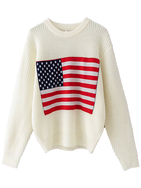 'USA' Flag Crewneck Sweater