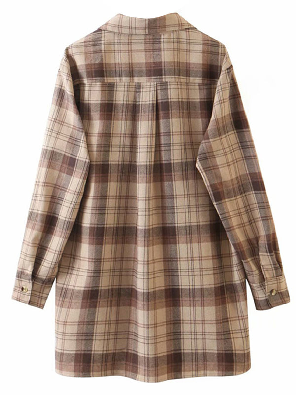 'Judy' Plaid Oversized Long Shirt