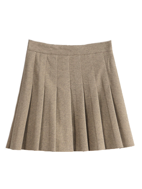 'Leea' Pleated Mini Skirt (4 Colors)