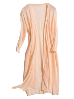 'Hebe' Sheer Long Open Cardigan (4 Colors)