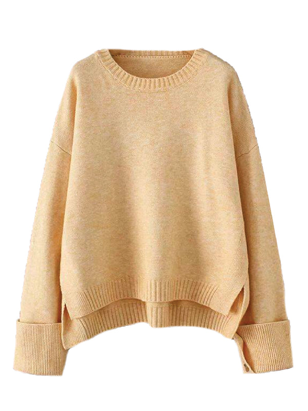 'Jenner' Buttoned Cuff Oversized Sweater (4 Colors)