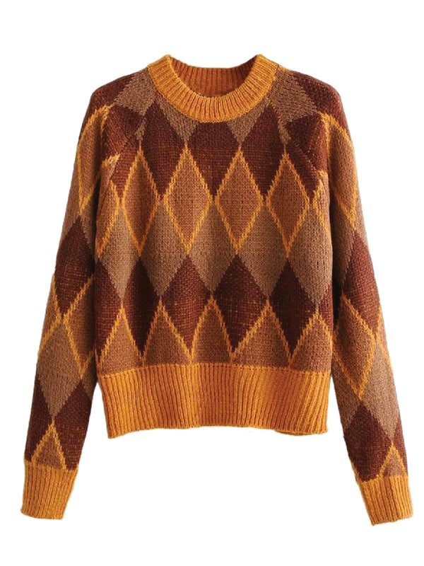 'Harry' Argyle Knitted Sweater