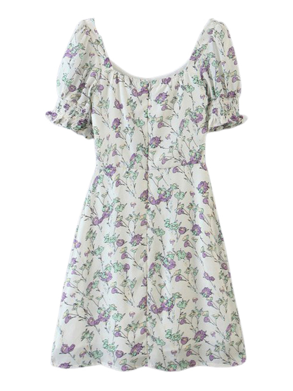 'Maddie' Floral Front Tied Mini Dress