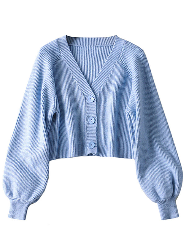 'Elizabeth' Button Down Cropped Cardigan (4 Colors)