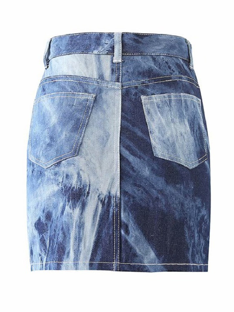 'Cecilia' Tie Dye High Waisted Mini Skirt (2 Colors)