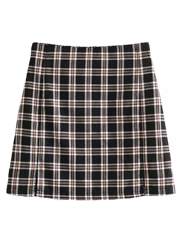 'Misty' Plaid Mini Skirt