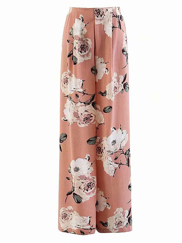 'Heidi' Floral Pants With Slit