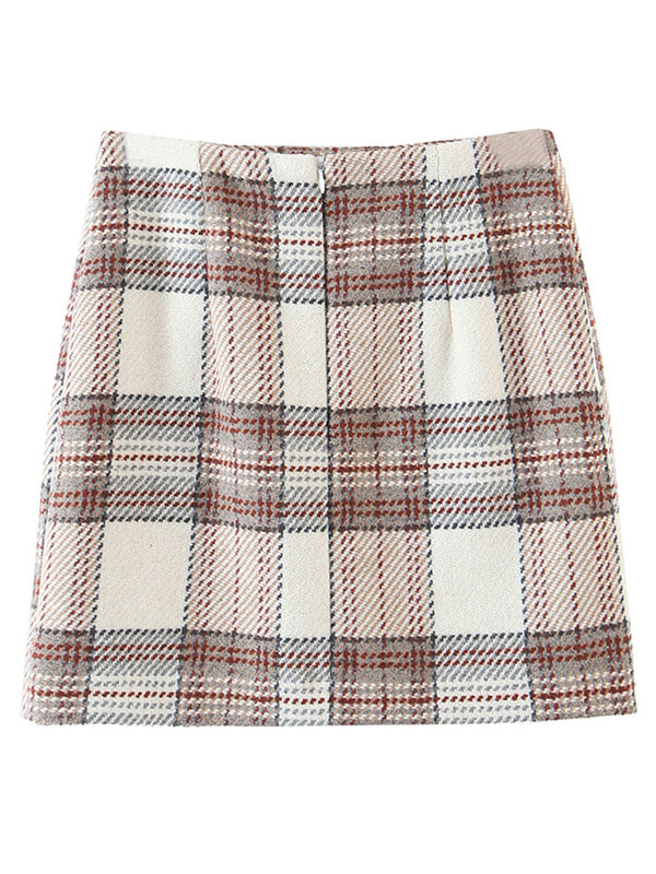 'Daisy' Plaid Mini Skirt