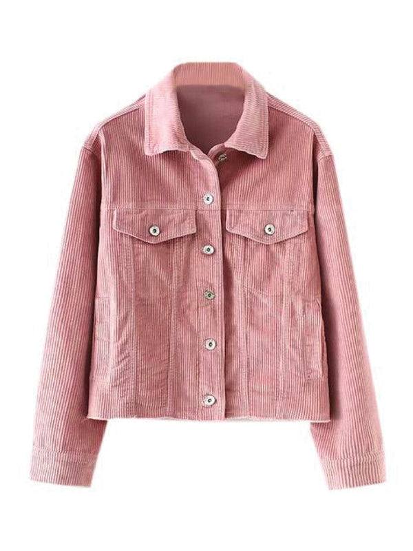 'Kawena' Pink Corduroy Denim Jacket