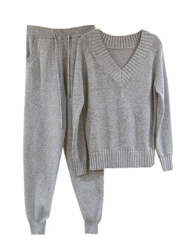'Ann' Knit Super Soft PJ Set (3 Colors)