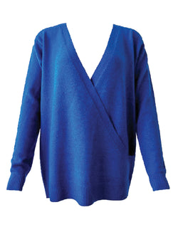 'Mylie' V-Neck Wrapped Sweater (3 Colors)