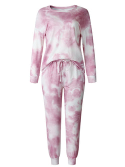 'Amelia' Tie Dye Long Sleeve PJ Set (4 Colors)