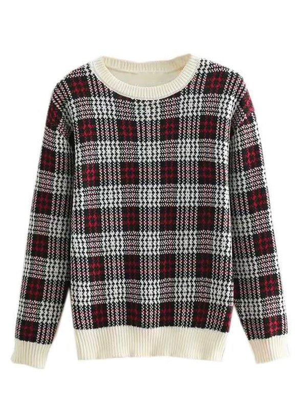 'Fargo' Checked Crewneck Sweater