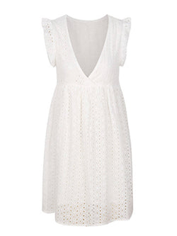 'Nicca' Crochet Lace Mini Dress (3 Colors)
