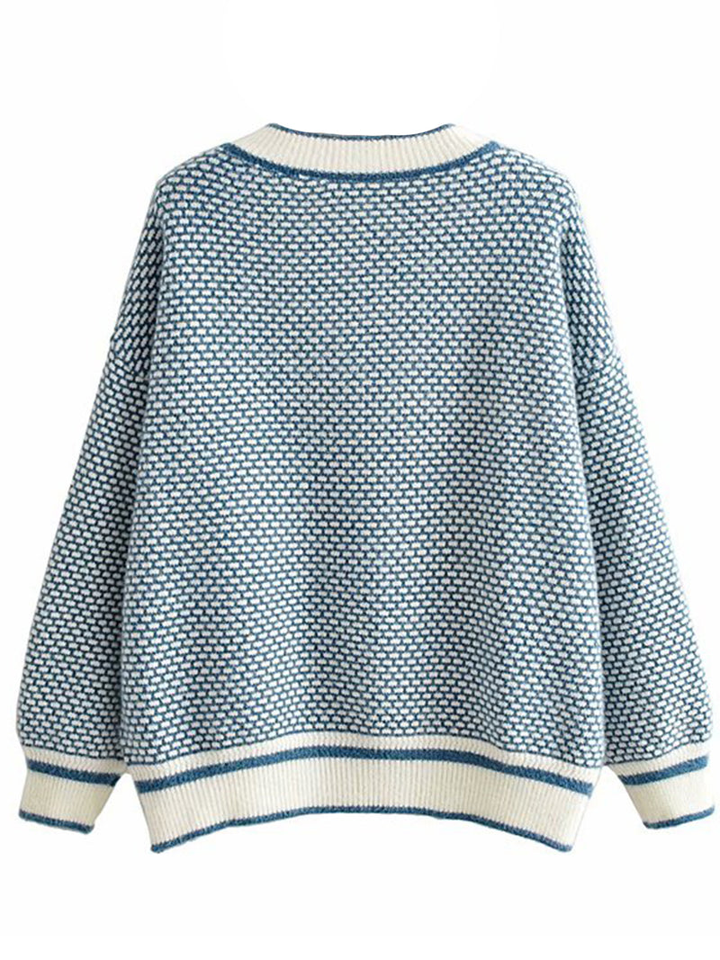 'Kate' Crewneck Houndstooth Sweater (2 Colors)