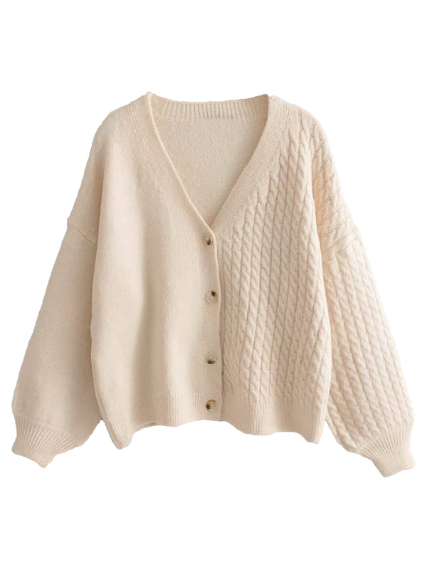 'Marci' Two-Texture Button Down Cardigan (3 Colors)