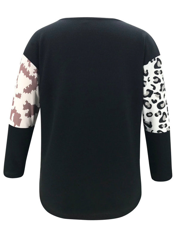 'Ruby' Bicolor Leopard Print Sweater