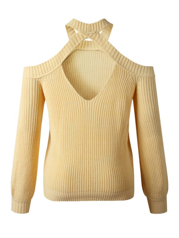 'Cami' Cut-Out Shoulder Sweater (3 Colors)