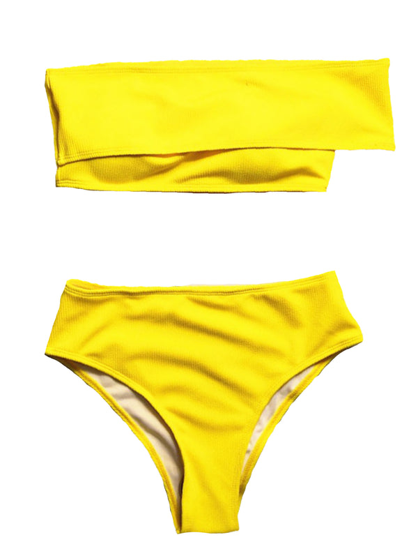 'Simone' Side Off Shoulder Bikini (3 Colors)