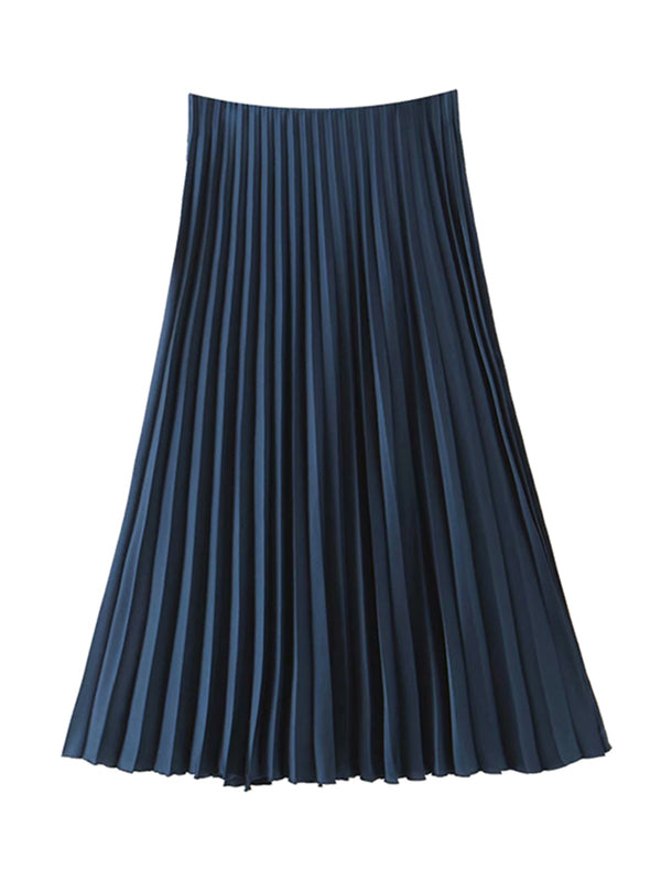 'Carla' Pleated Midi Skirt