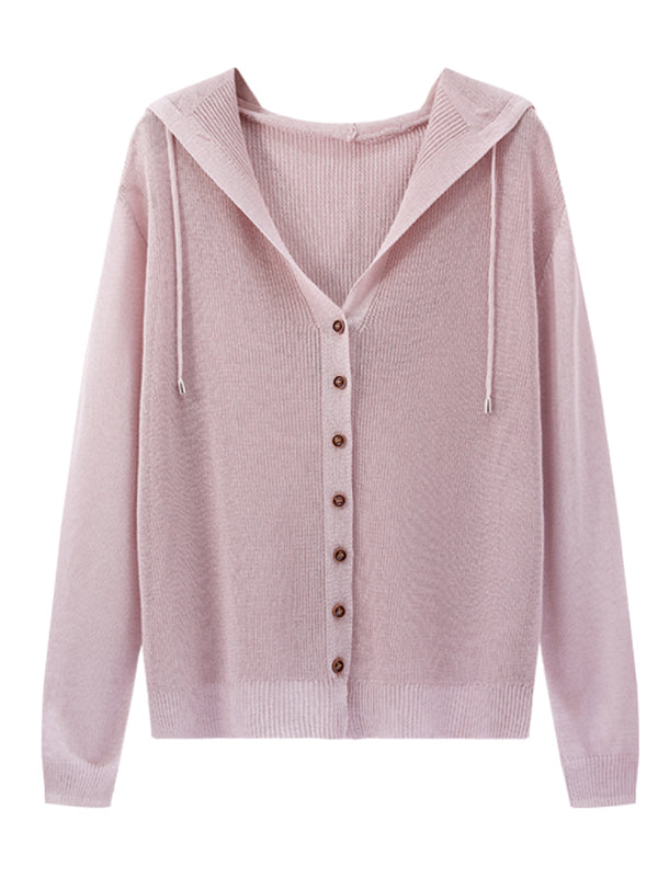 'Emily' Lightweight Soft Hooded Cardigan (7 Colors)