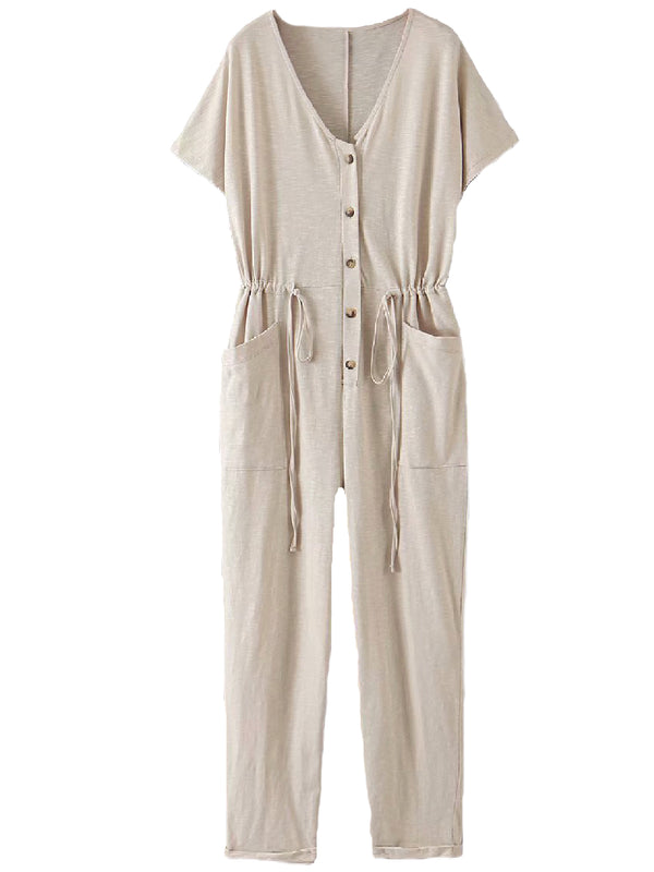'Tamara' Tied Waist Jumpsuit With Pockets