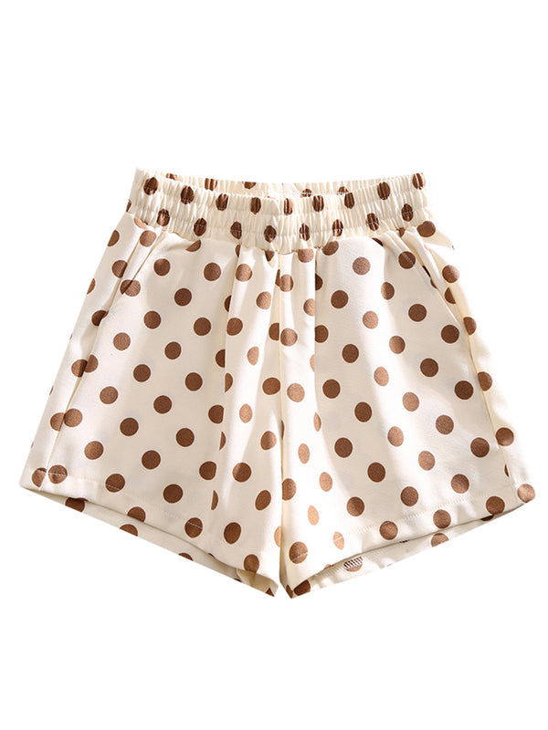 'Catherine' Dotted Print Shorts (2 Colors)
