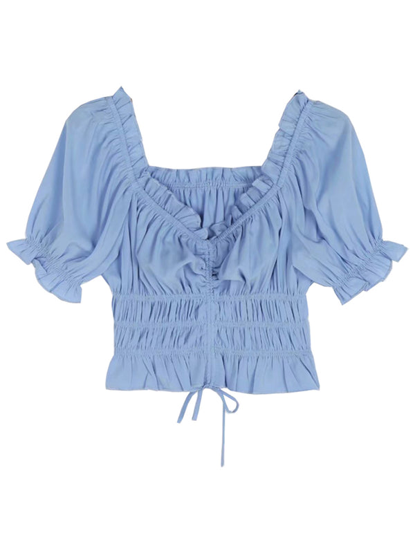 'Kelsie' Ruched Drawstring Top
