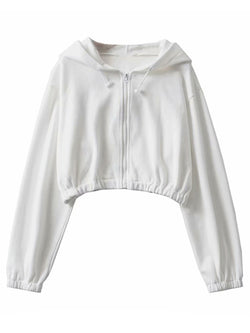 'Helena' Zip-Up Cropped Hoodie (3 Colors)