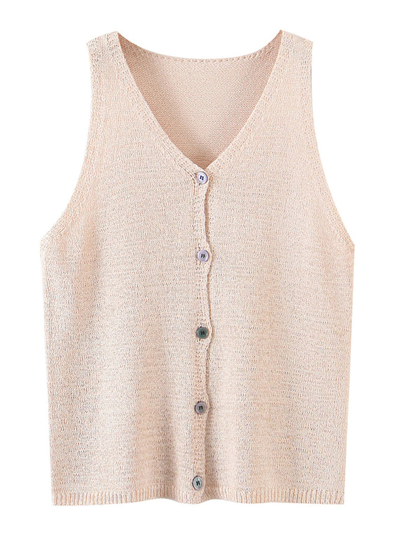 'Jemma' Button down Sleeveless Top (2 Colors)