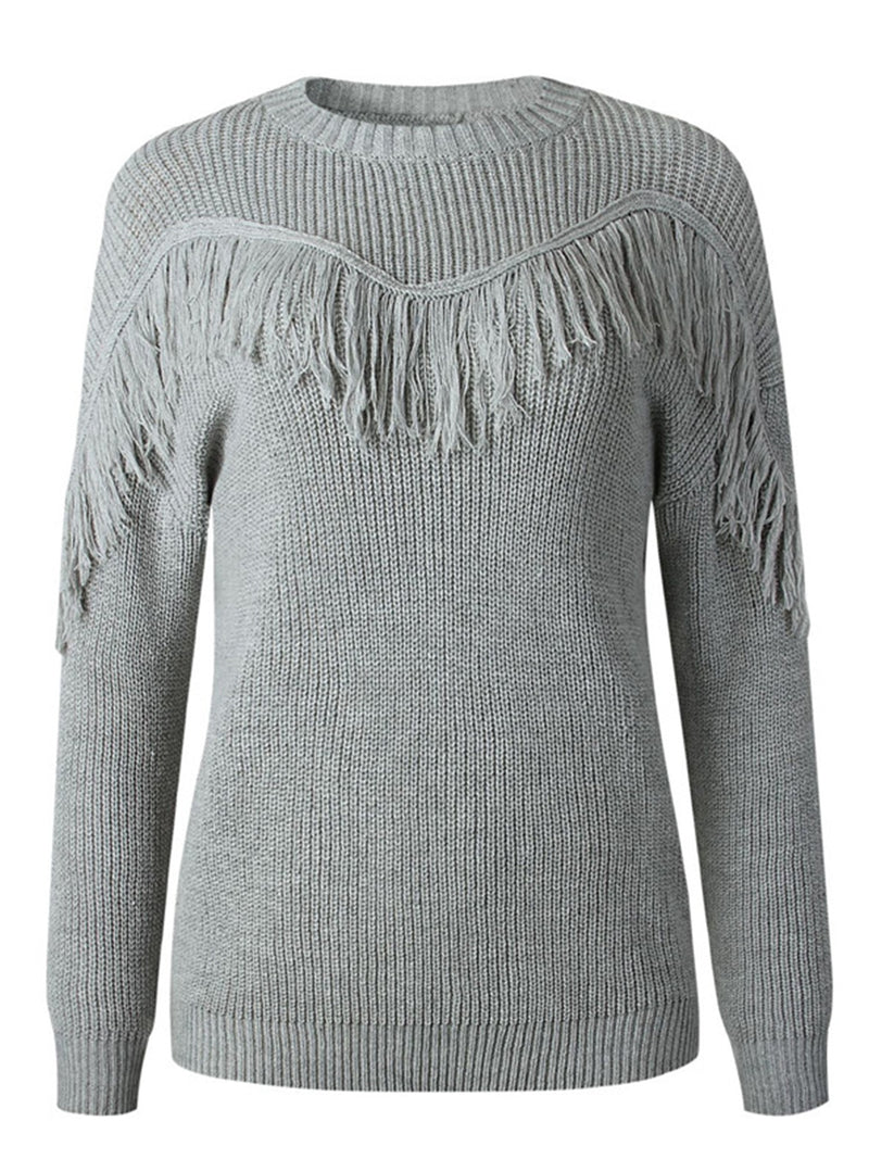 'Denee' Tassel Front Sweater (5 Colors)