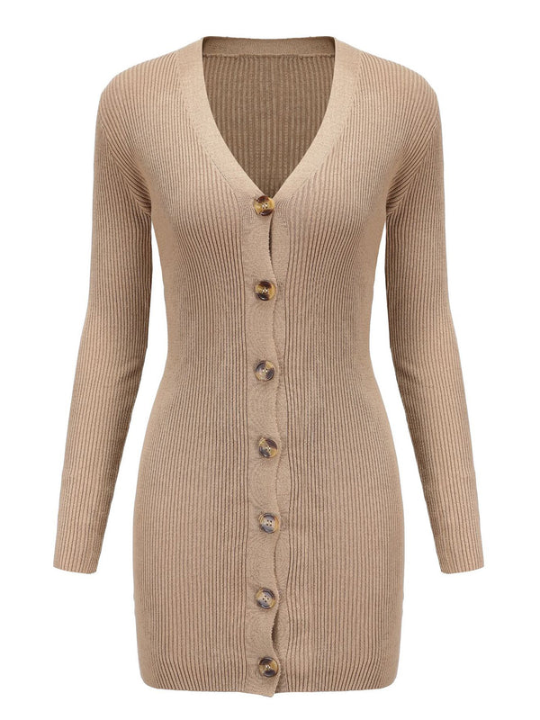 'Michelle' Button Down Cardigan Dress
