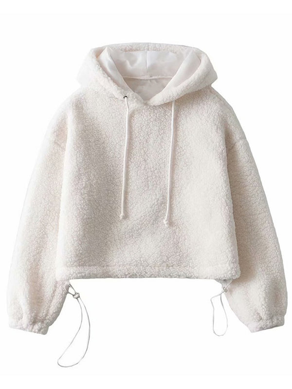 'Paulina' Cropped Fleece Hoodie (3 Colors)