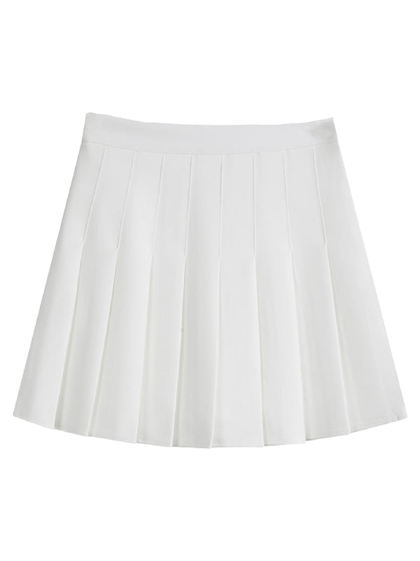 'Evelyn' Pleated Mini Skirt (2 Colors)